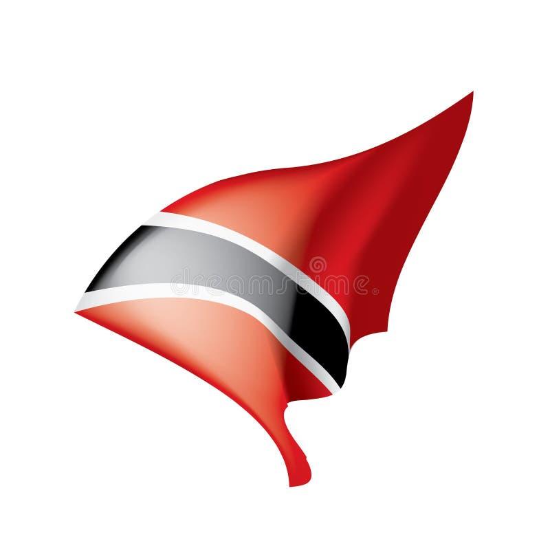 Флаг Тринидад и Тобаго, иллюстрация вектора иллюстрация вектора