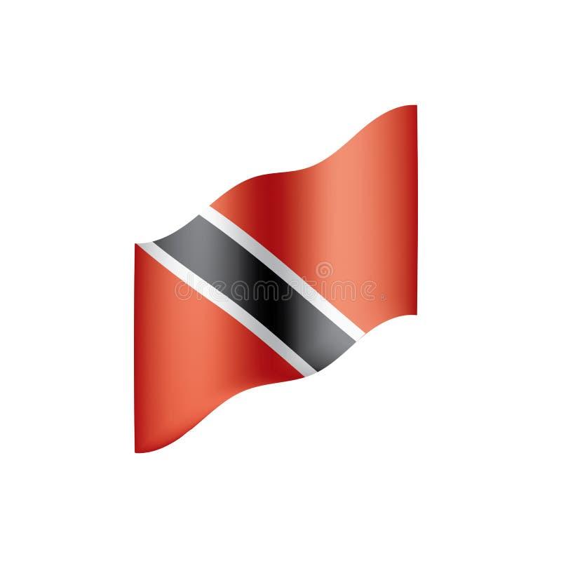 Флаг Тринидад и Тобаго, иллюстрация вектора иллюстрация штока