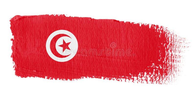 флаг Тунис brushstroke иллюстрация штока