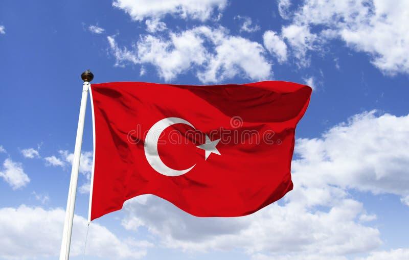 """Флаг Турции, """"эмблема революции с луной звезды """" стоковое фото rf"""