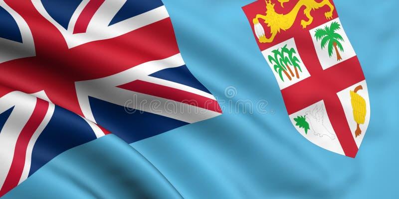 флаг Фиджи стоковое изображение rf