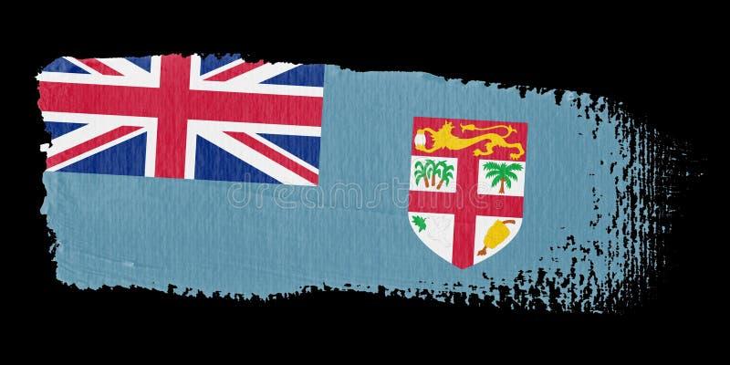 флаг Фиджи brushstroke иллюстрация вектора