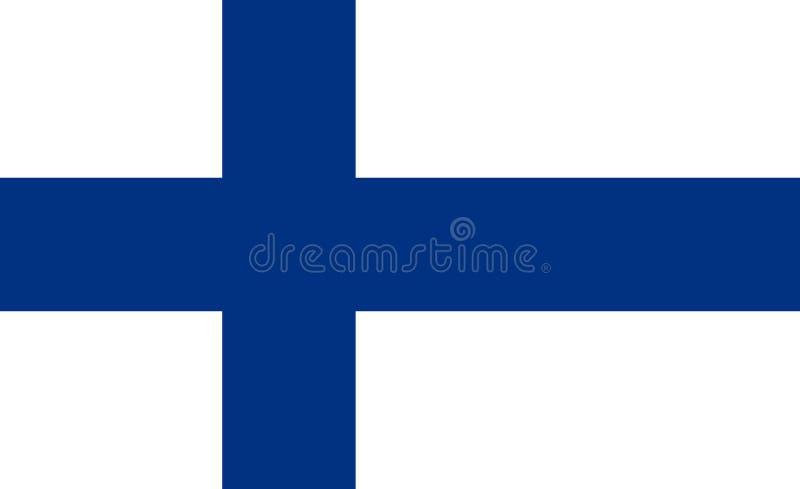 флаг Финляндии Национальный символ положения Вектор Illust бесплатная иллюстрация