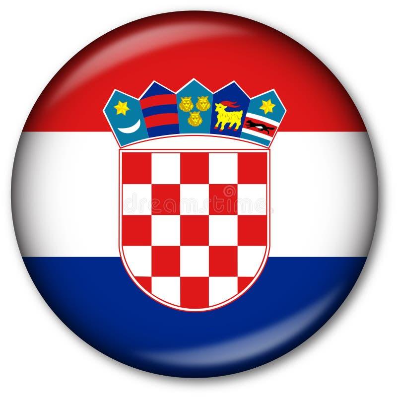 флаг Хорватии кнопки иллюстрация вектора