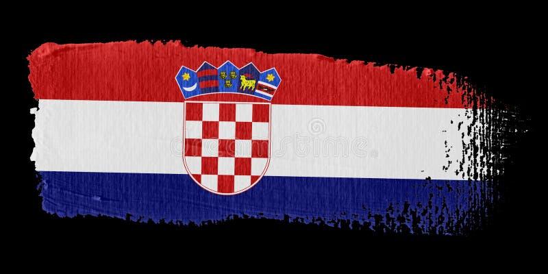 флаг Хорватии brushstroke бесплатная иллюстрация