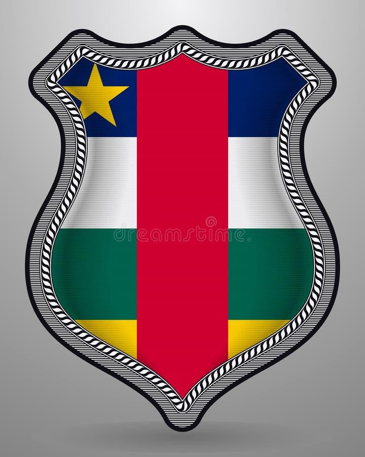 Флаг Центральноафриканской Республики Значок и значок вектора Горизонтальная версия ориентации иллюстрация штока