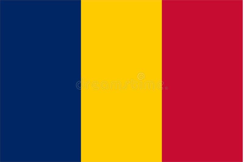 Флаг Чада иллюстрация штока