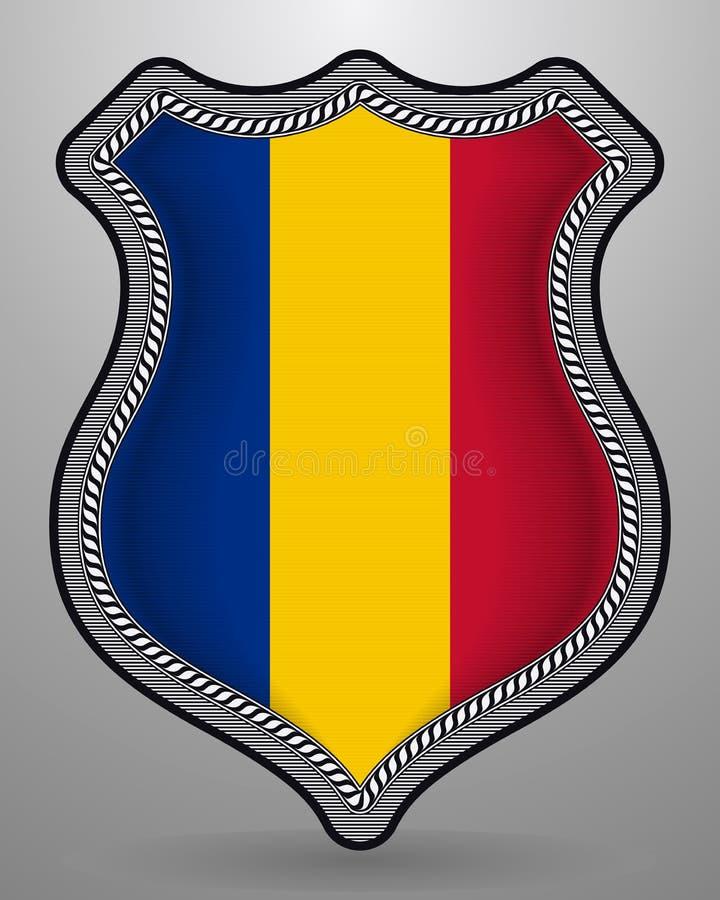 Флаг Чад Значок и значок вектора Горизонтальная версия ориентации иллюстрация штока