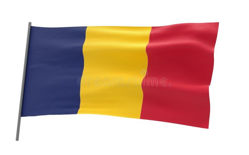 Флаг Чад иллюстрация вектора