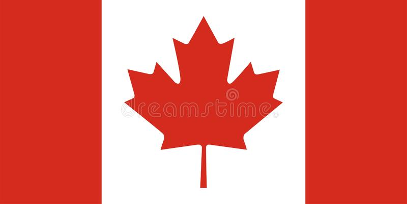 флаг чанадеца Канады иллюстрация вектора