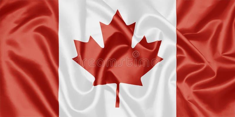 флаг чанадеца Канады иллюстрация штока