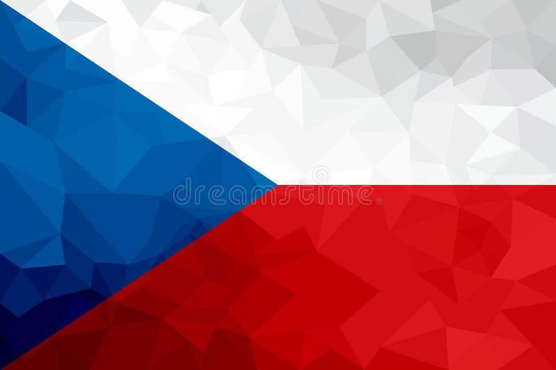 Флаг чехии полигональный Предпосылка мозаики современная конструируйте геометрическое бесплатная иллюстрация