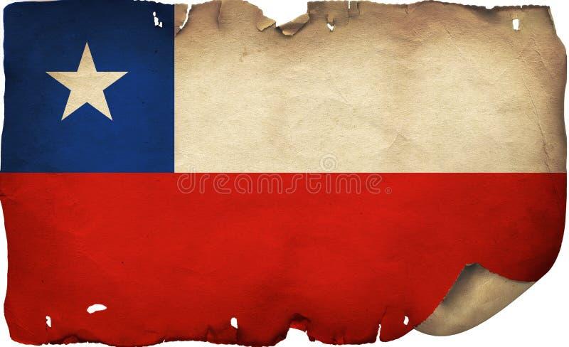 Флаг Чили на старой бумаге стоковое изображение rf