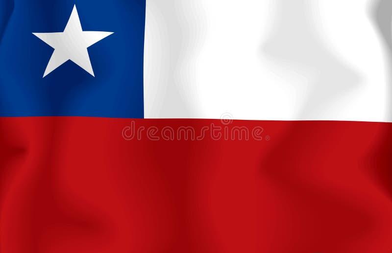 флаг Чили иллюстрация штока