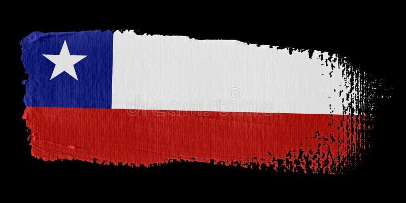 флаг Чили brushstroke иллюстрация вектора