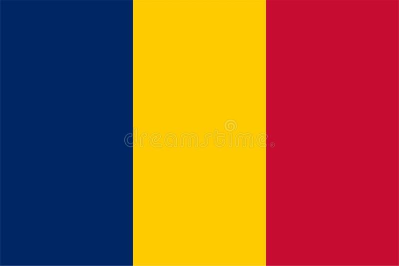 Флаг Чэд иллюстрация вектора