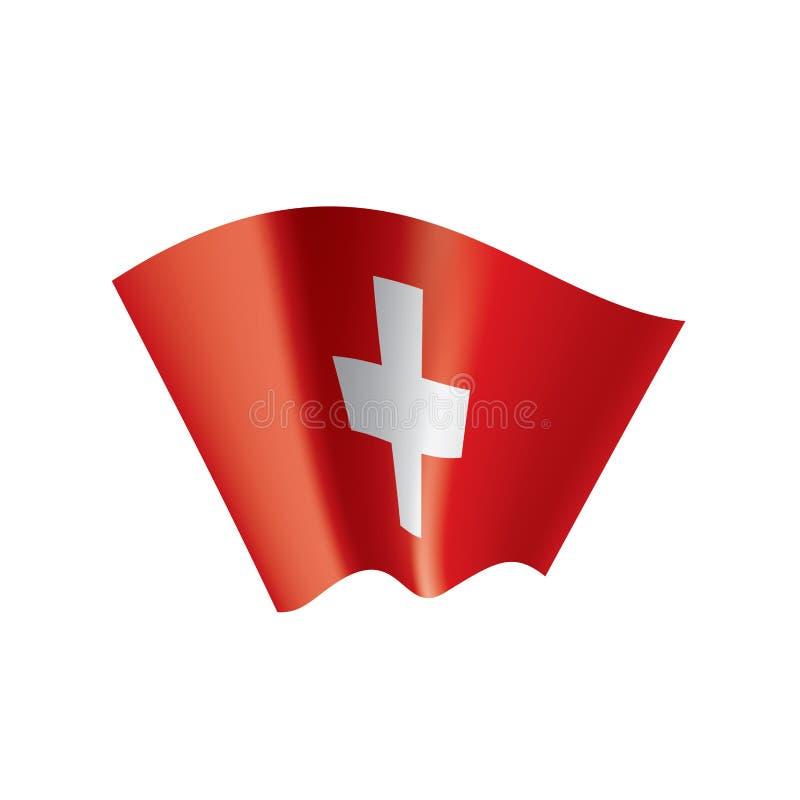 Флаг Швейцарии, иллюстрация вектора на белой предпосылке бесплатная иллюстрация