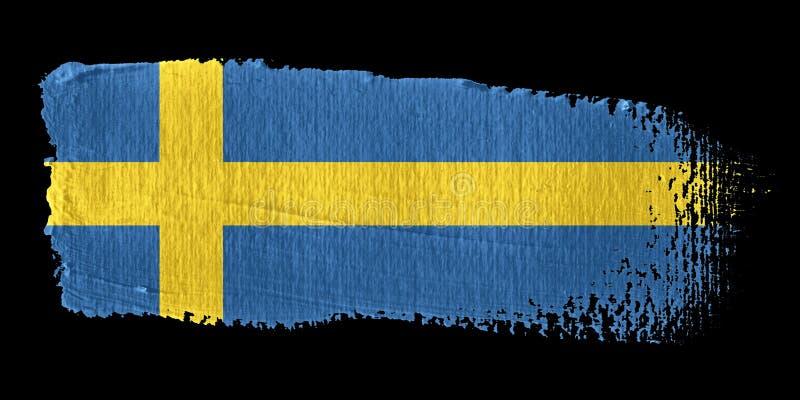 флаг Швеция brushstroke иллюстрация штока