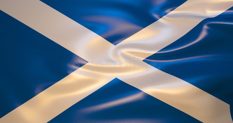 Флаг Шотландии в ветре иллюстрация 3d бесплатная иллюстрация