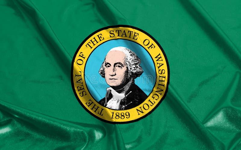 Флаг штата Вашингтона Америки струился развевать стоковые фото