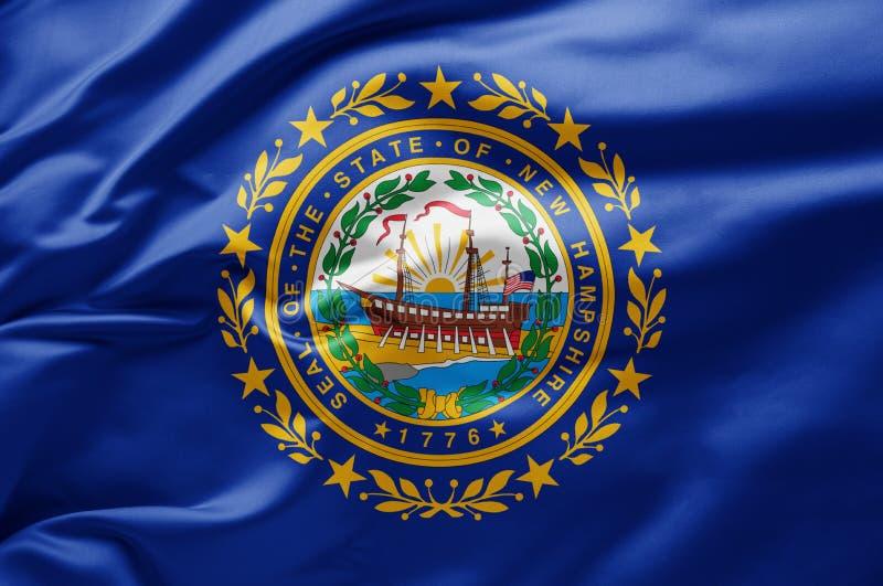 Флаг штата Нью-Гэмпшир - Соединенные Штаты Америки стоковые фотографии rf