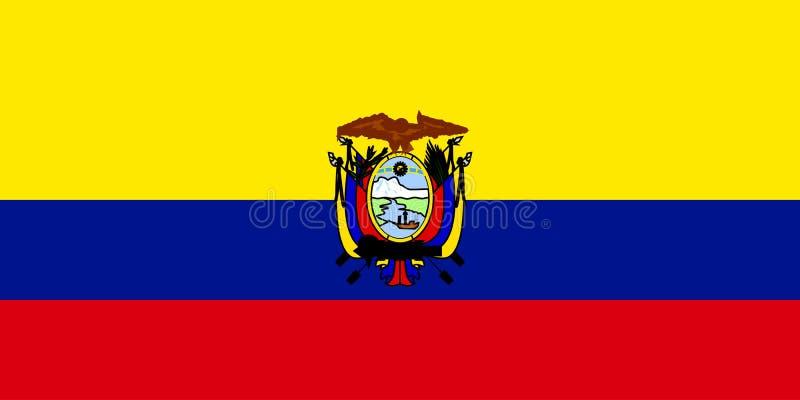 флаг эквадора иллюстрация вектора