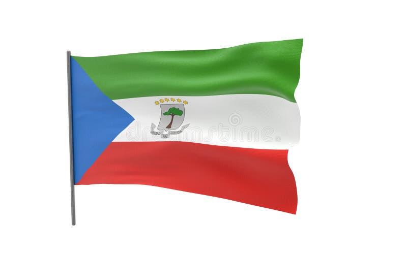 Флаг Экваториальной Гвинеи иллюстрация штока