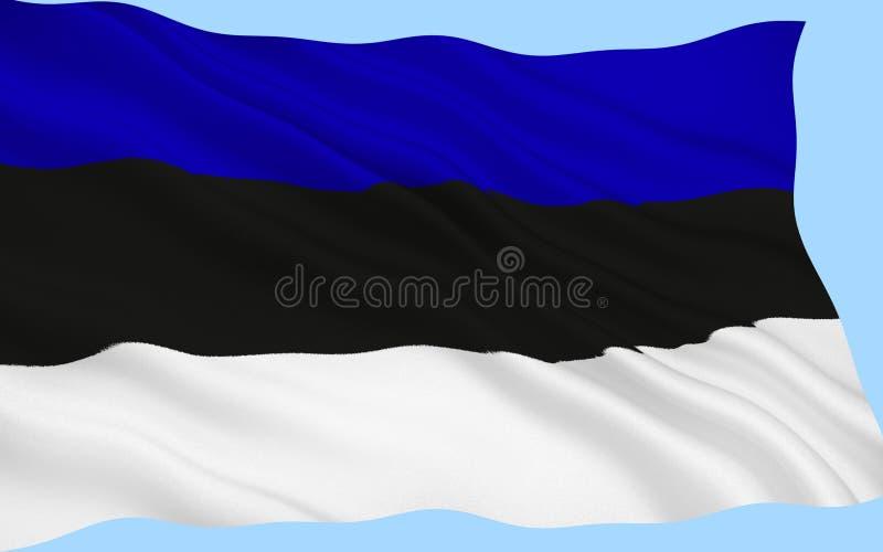 флаг эстонии стоковая фотография