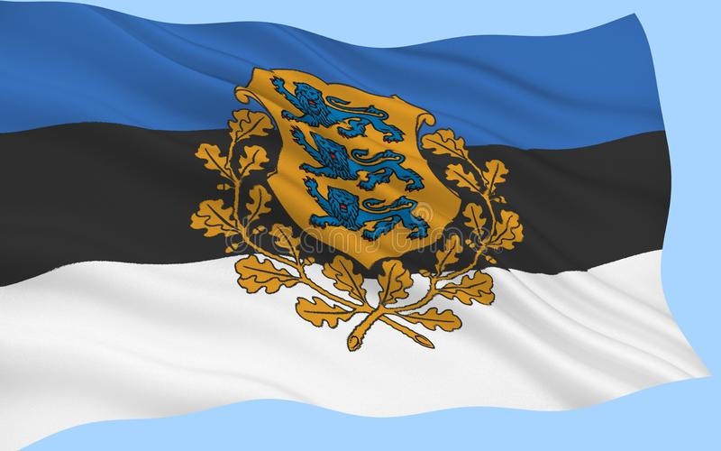флаг эстонии стоковое фото rf