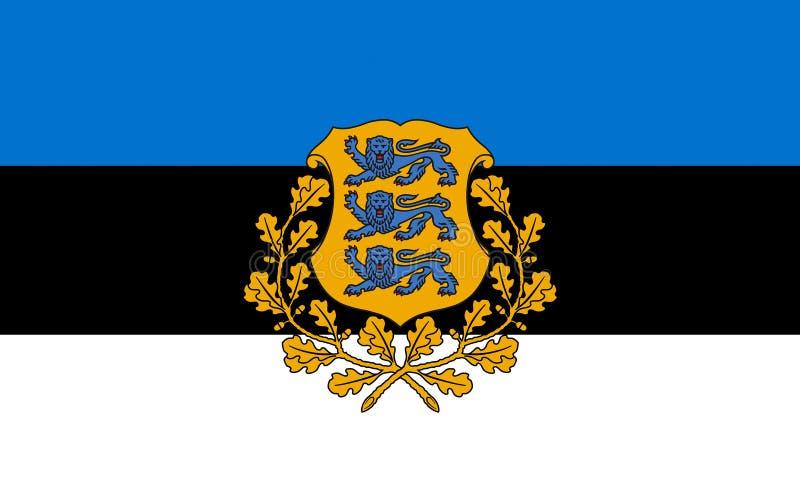 флаг эстонии иллюстрация вектора