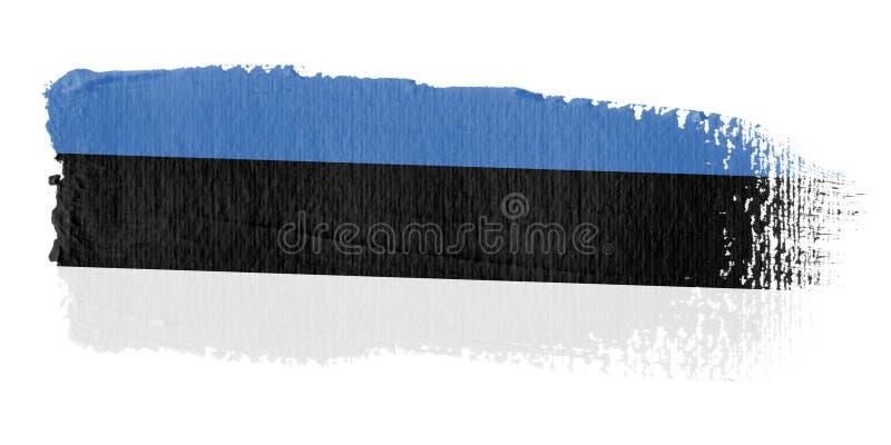 флаг эстонии brushstroke иллюстрация вектора
