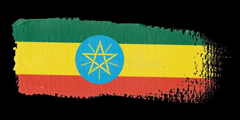 флаг эфиопии brushstroke иллюстрация вектора