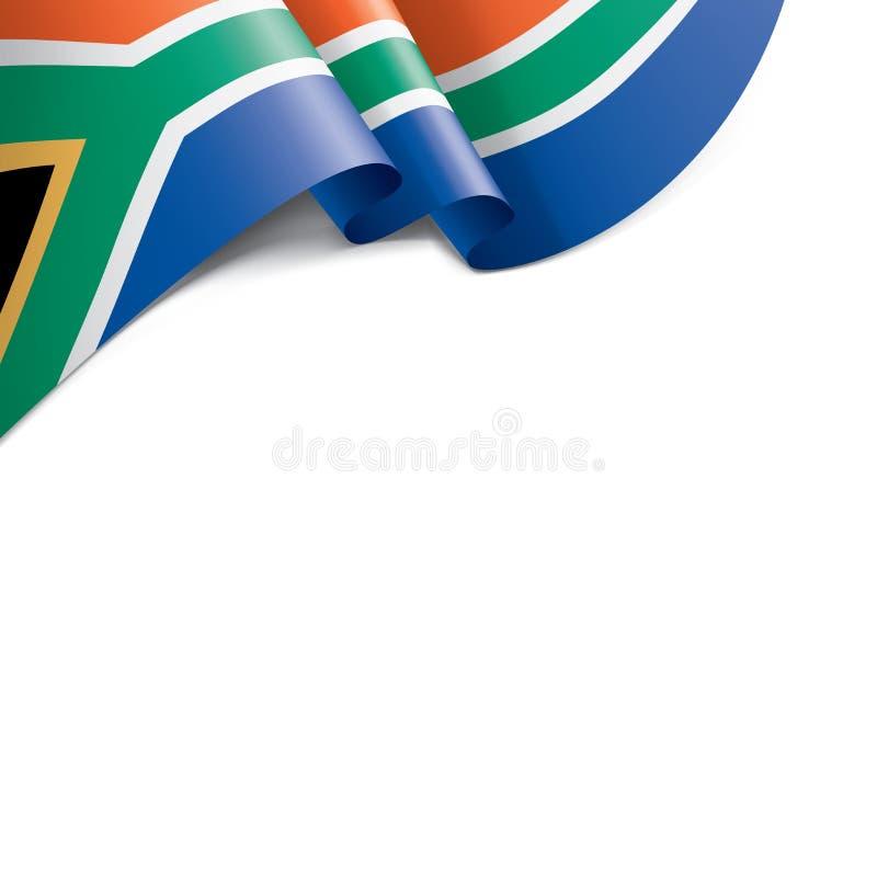 Флаг Южной Африки, иллюстрация вектора на белой предпосылке иллюстрация штока