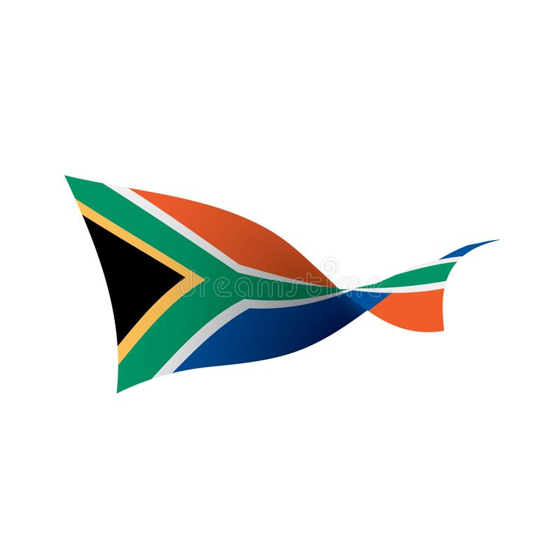 Флаг Южной Африки, иллюстрация вектора иллюстрация штока