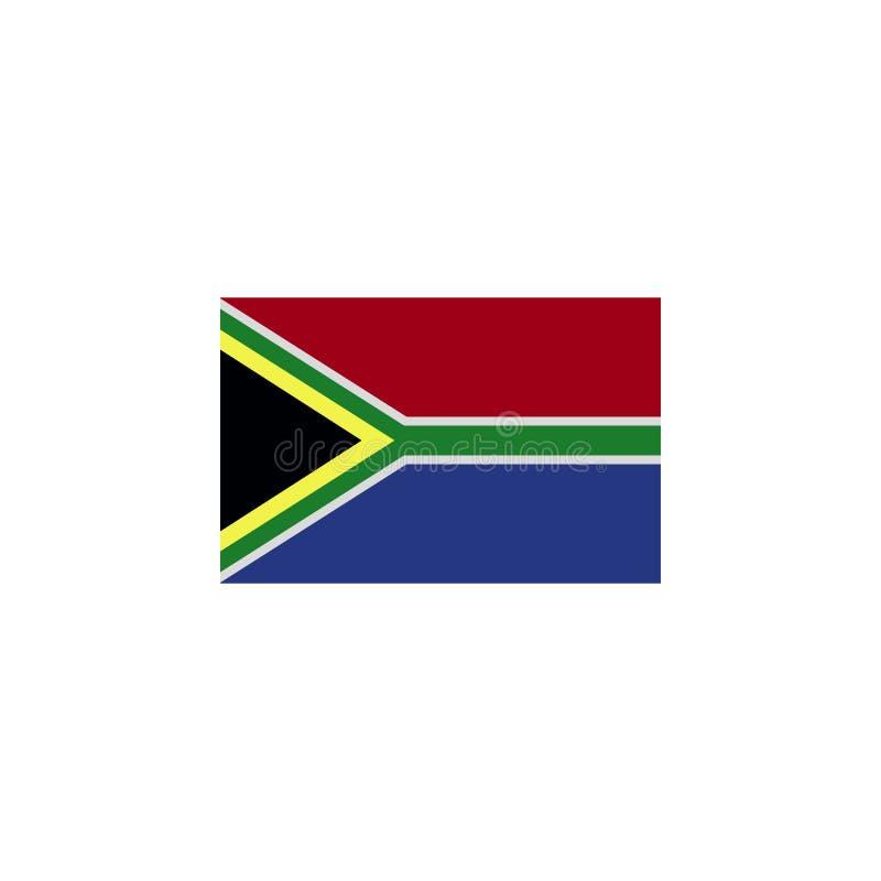 флаг Южной Африки покрасил значок Элементы значка иллюстрации флагов Знаки и символы можно использовать для сети, логотипа, мобил иллюстрация штока
