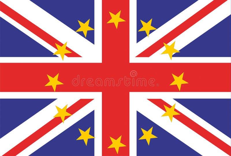 Флаг Юниона Джек флага Великобритании Великобритании и Европейского союза стоковое фото rf
