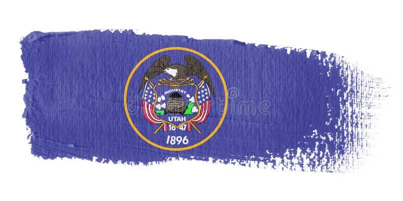 флаг Юта brushstroke иллюстрация вектора