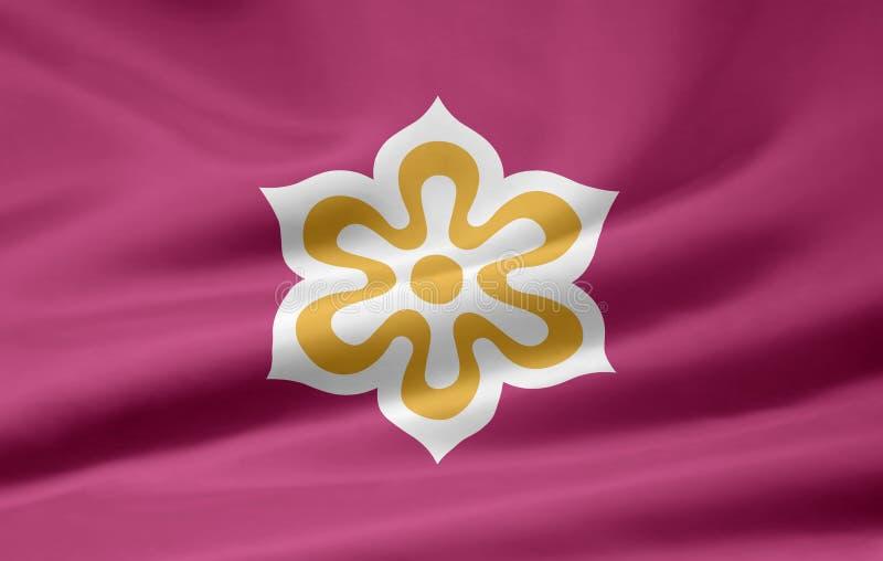 флаг япония kyoto иллюстрация штока