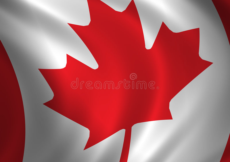 флаг 2 Канада иллюстрация вектора