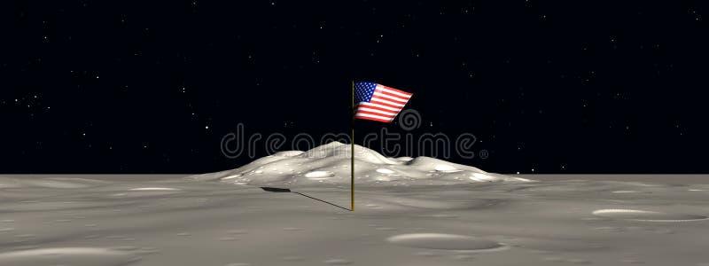 Флаг 2 космоса иллюстрация вектора
