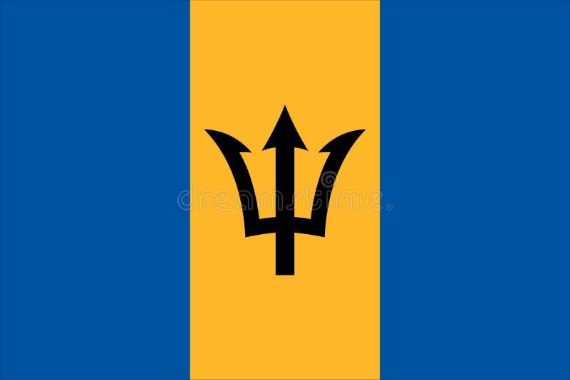 флаг barbado иллюстрация штока