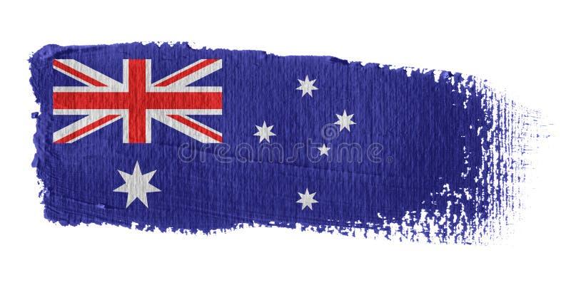 флаг brushstroke Австралии иллюстрация штока