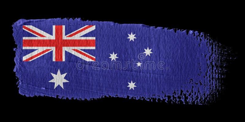 флаг brushstroke Австралии бесплатная иллюстрация