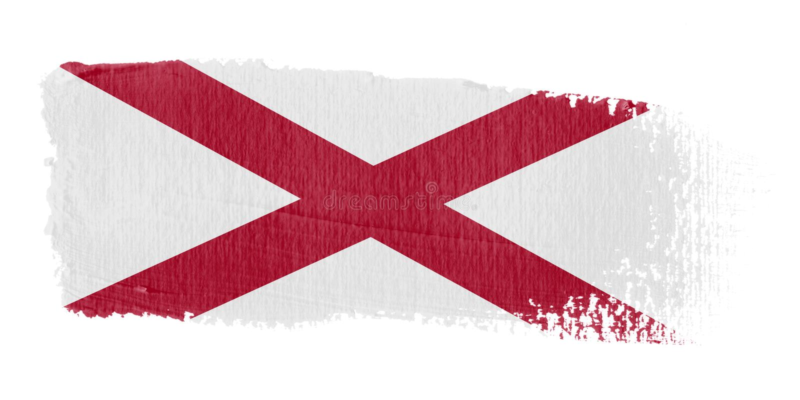 флаг brushstroke Алабамы иллюстрация штока