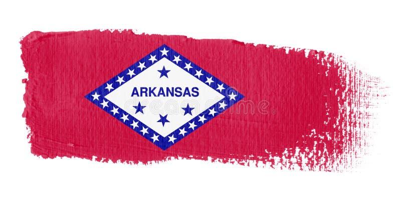 флаг brushstroke Арканзаса иллюстрация вектора