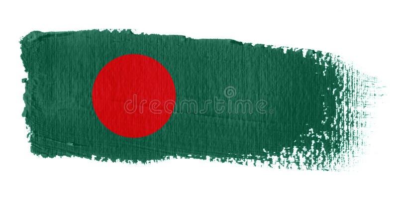 флаг brushstroke Бангладеша иллюстрация штока