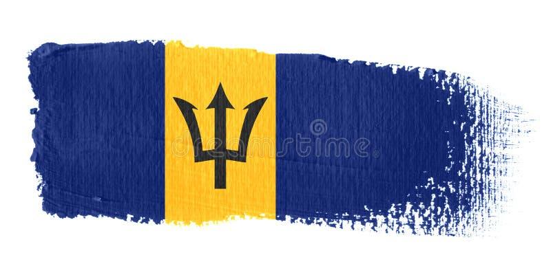 флаг brushstroke Барбадосских островов бесплатная иллюстрация