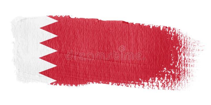 флаг brushstroke Бахрейна бесплатная иллюстрация