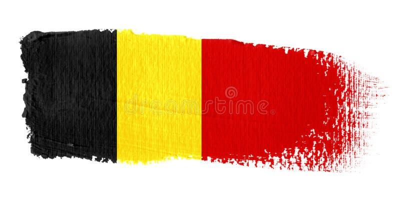 флаг brushstroke Бельгии иллюстрация вектора