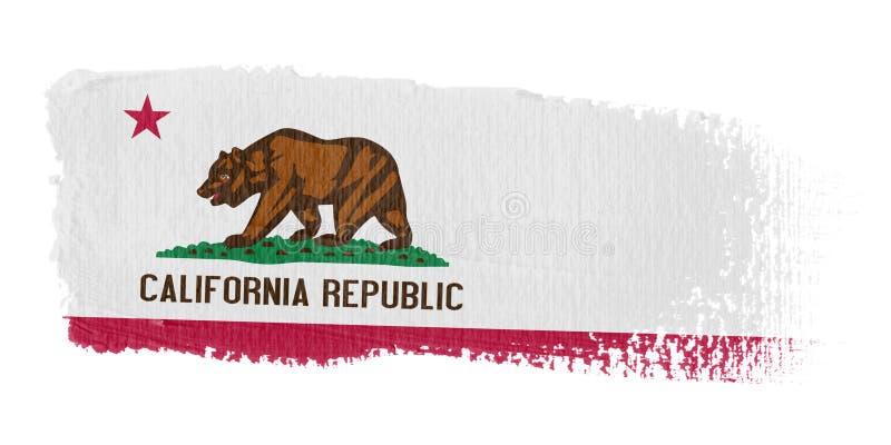 флаг california brushstroke иллюстрация штока